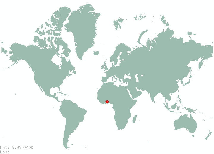 Limon in world map